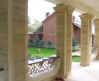 Обрамление квадратных колонн с каннелюрами