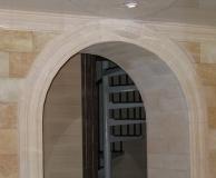 Внутренняя стена из РДн, арка и потолочный карниз из ПС