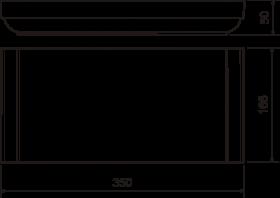 Пилястра №14 (50х165х350) - чертёж