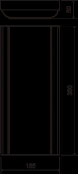 Пилястра №14 (50х350х165) - чертёж