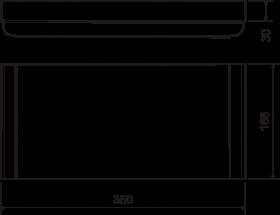 Пилястра №15 (30х165х350) - чертёж