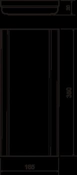 Пилястра №15 (30х350х165) - чертёж