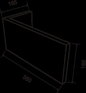 Угловой элемент 20х165х350 - чертёж